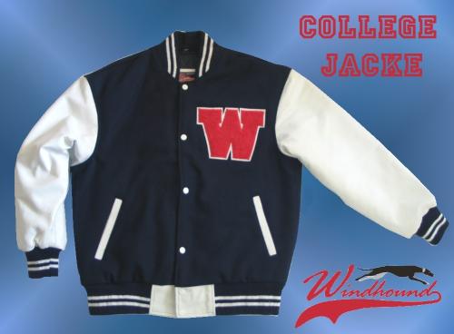 ... Windhound College Jacke, Echtlederärmel, 24oz Wolle, american Patches,  Navyblau 48e933182c